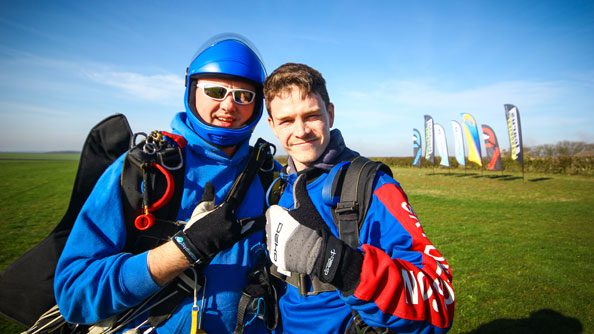 Student and tandem instructor